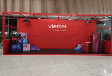 Thiết kế thi công POSM cho sự kiện Lễ ra mắt nhận diện thương hiệu mới của Tập đoàn công nghiệp – viễn thông quân đội Viettel