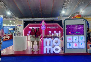 Thiết kế thi công gian hàng cho MoMo tại Triển lãm Quốc tế Đổi mới sáng tạo Việt Nam 2021